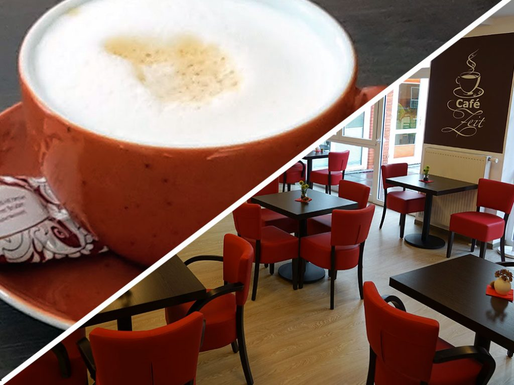 Das hausinterne Café im Seniorenheim in Himmelpforten.