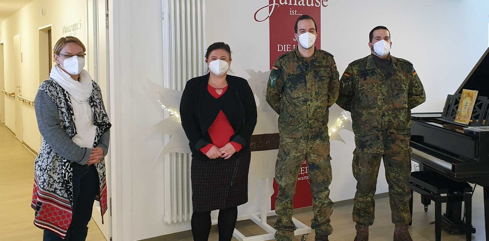 Die Bundeswehr unterstützt das Seniorenheim Klosterfeld